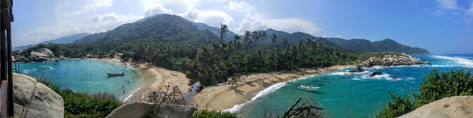 Strand auf einer Kolumbien Rundreise
